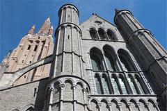 church of our lady facade - stock photo