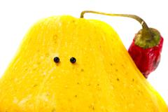 Toy squash with eyes Stock Photos