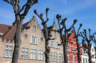 Typical bruges facades Stock Photos