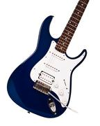 blue electric guitar closeup - stock photo