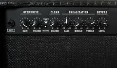 Guitar amplifier control panel Stock Photos