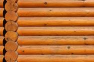 Wooden logs wall background Stock Photos