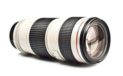 long lens - stock photo