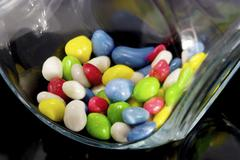 sweets in glass jar - stock photo