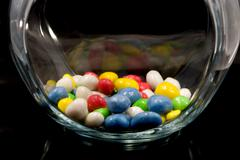 Sweets in glass jar Stock Photos