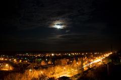 Beautiful night scenery Stock Photos