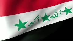 Irak Flag Waving Stock Footage