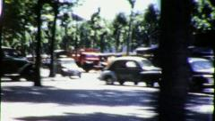 STEET SCENE PARIS From Inside Car 1950s (Vintage Retro Film Home Movie) 4394 Stock Footage