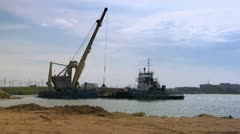 Cargo barge Stock Footage