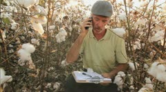 Agricultural Business Phone Stock Footage