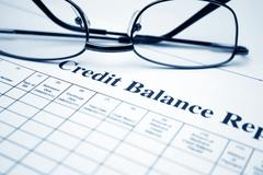 Credit balance report Stock Photos