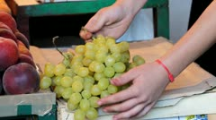 Fresh grapes Stock Footage