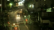 Stock Video Footage of Shinjuku train traffic time lapse