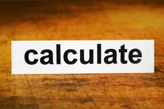 calculate - stock photo