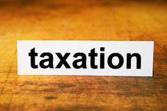 taxation - stock photo