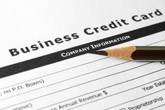 Stock Photo of business credit card