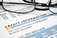 credit  information - stock photo