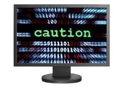 caution - stock photo