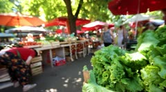 Green on the greenmarket Stock Footage