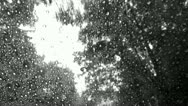 Driving in the Rain Black and White Stock Video Stock Footage