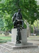 Charles Dickens statue in Clark Park, Philadelphia Stock Photos