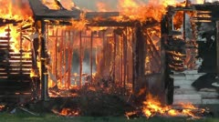 Amid the Force of Nature - Fire distroys an old farm house in less then an hour. Stock Footage