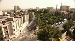 Pan of Tehran, Iran. - stock footage