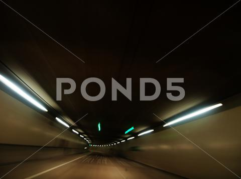 Stock photo of Night driving tunnel
