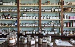 Historic store medicine Apothecary  Stock Photos