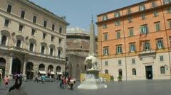 Elephant Obelisk near Pantheon Stock Footage