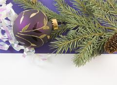 Purple gold scroll ornament Stock Photos