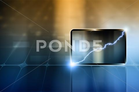 Stock Illustration of abstract tablet pc
