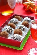 Prune and Nut Truffles - stock photo