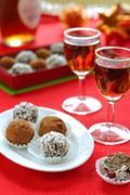 Prune and Nut Truffles Stock Photos