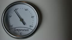Thermometer time lapse Stock Footage