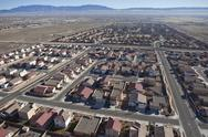 Stock Photo of desert suburban subdivision aerial