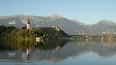 Lake Bled, Slovenia Stock Footage