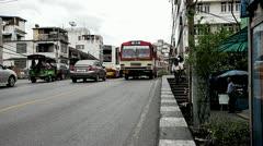 Traffic of asian street - stock footage