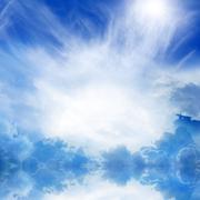 Heaven in sky Stock Illustration