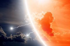 Dramatic sky Stock Illustration