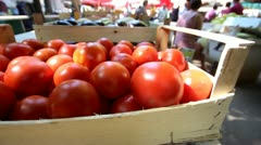 Red tomatoes Stock Footage