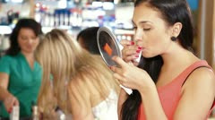 Clearance Sale in Cosmetics Store Stock Footage