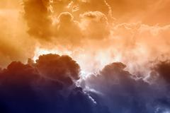 Scenic sky Stock Illustration