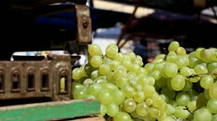 Scale and grapes Stock Footage