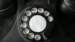 Vintage telephone Stock Footage