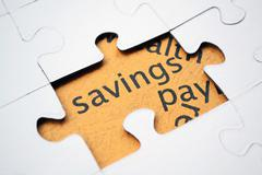 savings puzzle concept - stock photo