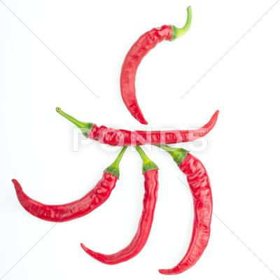 Stock photo of red chilli peppers
