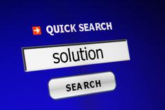 search for solution - stock photo