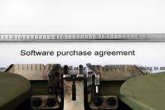 Stock Photo of software purchase agreement