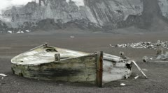 South Shetland Islands, Abandoned Boat Stock Footage